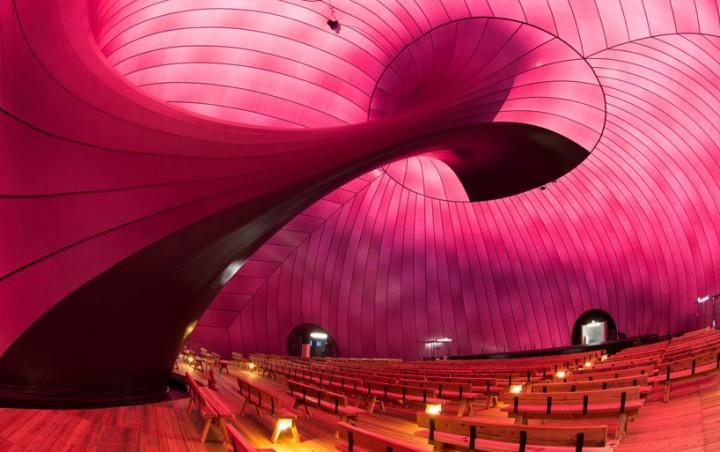 Японцы придумали надувной концертный зал
