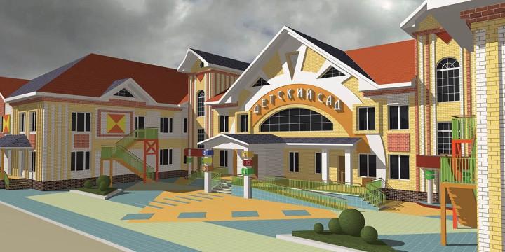 Для маленьких жителей города строят новые детские садики