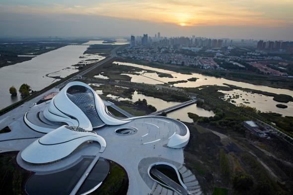 Новый оперный театр в Китае.