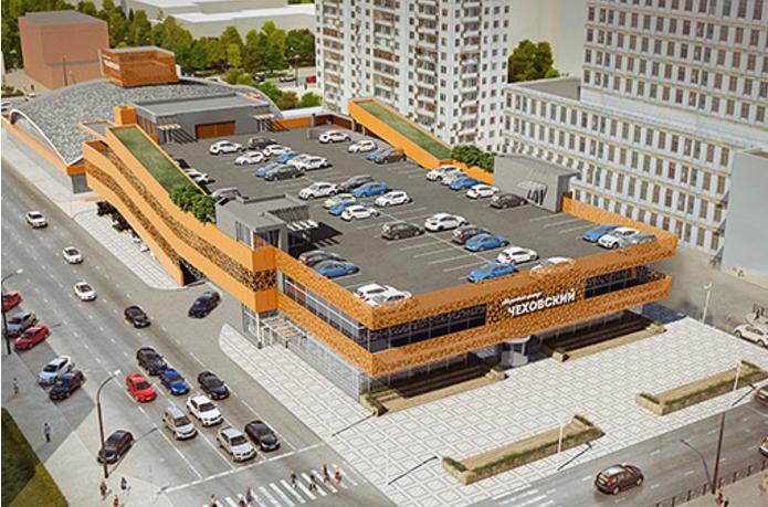 Чеховский рынок с парковкой на крыше